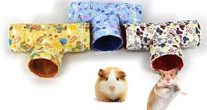tunneling and activity toys for small animals