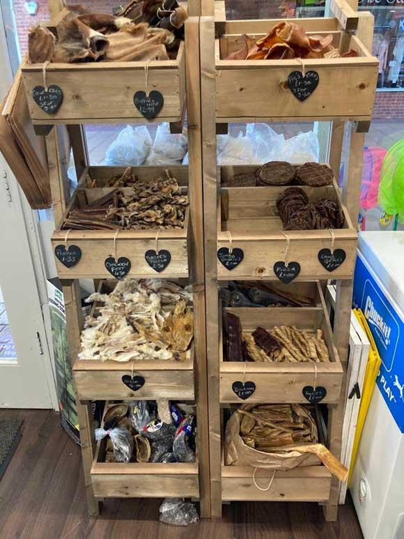 natural treats section