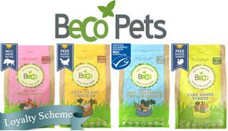 beco wet and dry pet foods for dogs and cats